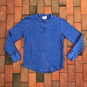 Lucky Brand slub cotton long-sleeved henley M
